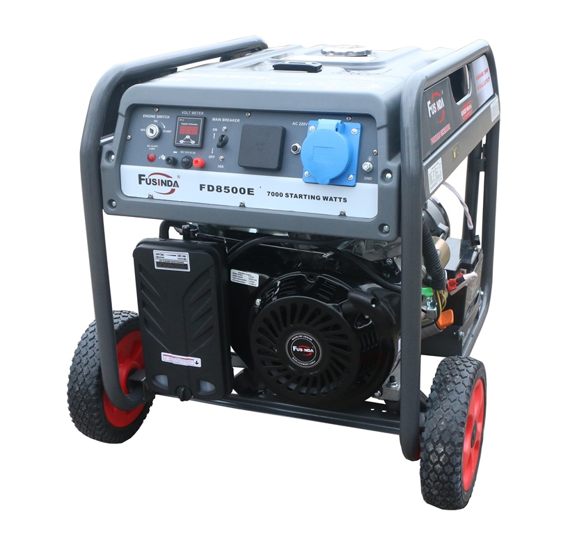 6.5kw Air Cooled Gasoline Generator/Generator/Generator Sets with Handle & Wheel Kit