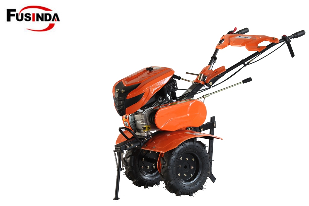 Gasoline Petrol Rotary Cultivator with New Handle and Tool Bag